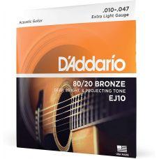 D'ADDARIO EJ10 80/20 BRONZE EXTRA LIGHT (10-47)