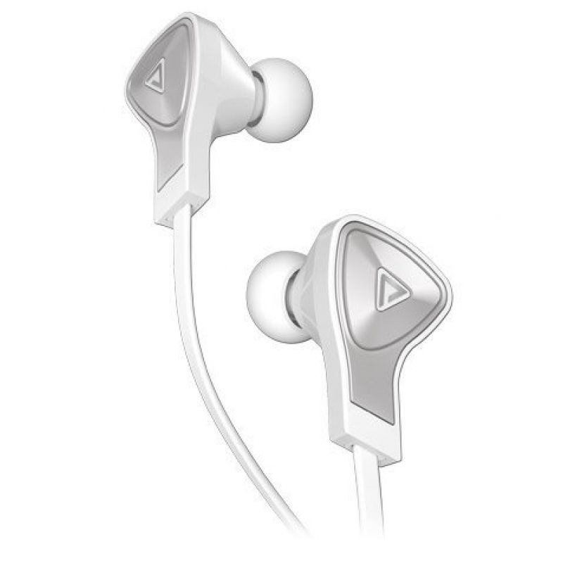 Monster® DNA In-Ear Headphones with Apple ControlTalk™ -White with Satin Chrome Finish