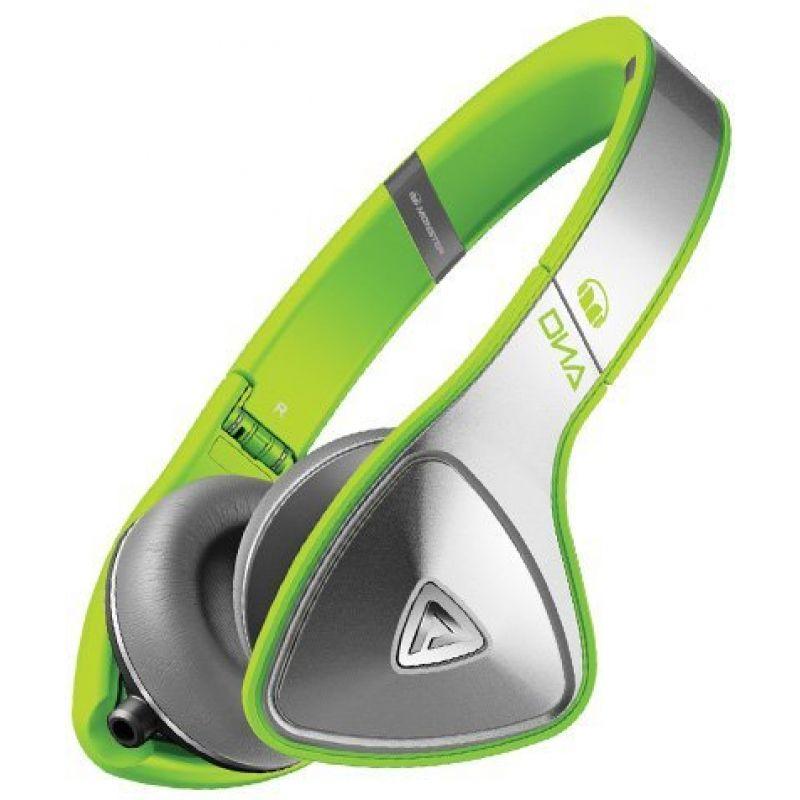 Monster® DNA Neon On-Ear Headphones - Silver on Neon Green наушники