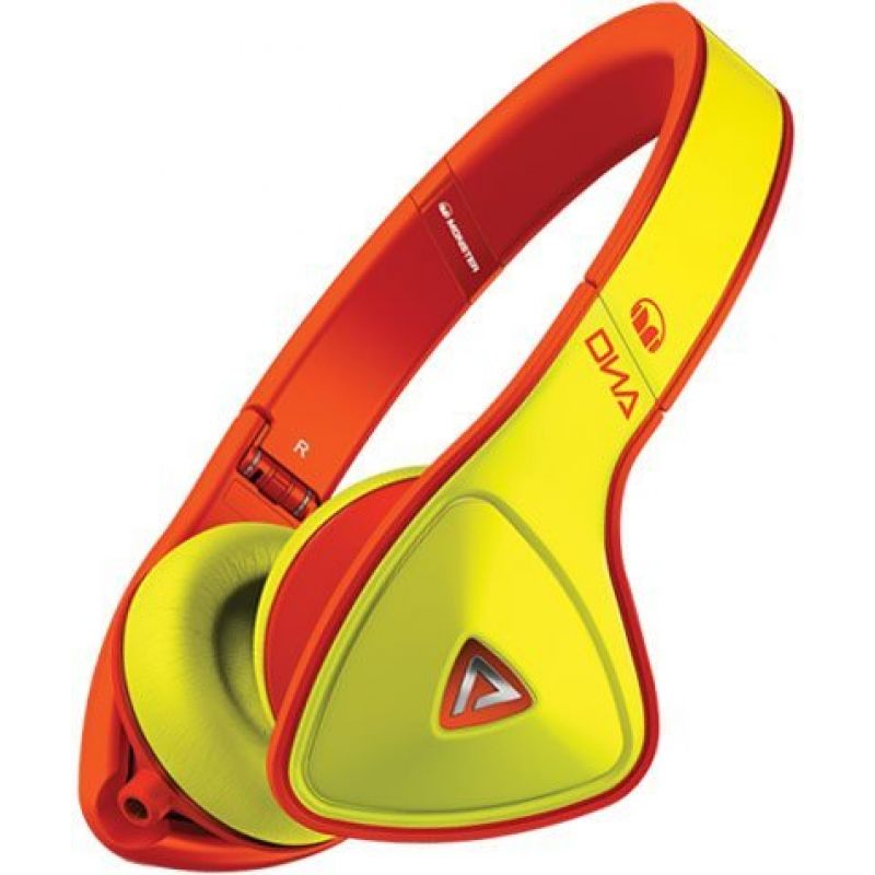 Monster® DNA Neon On-Ear Headphones - Yellow on Neon Orange