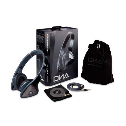 Monster® DNA On-Ear Headphones - Black with Satin Chrome/Dark Grey